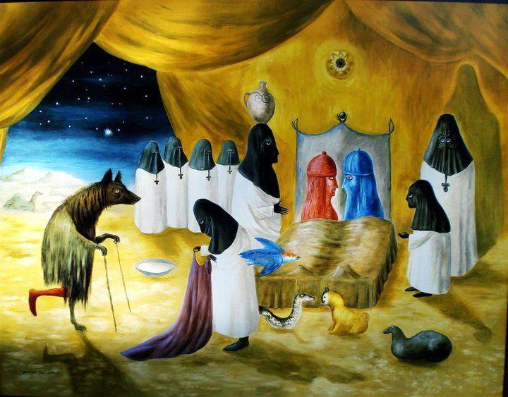 Pintora mexicana 'Lovers' de la pintora Leonora Carrington.