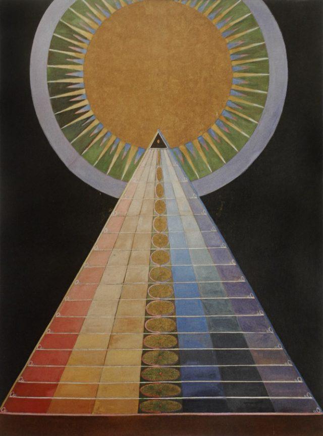 Pintura de arte abstracto multicolor