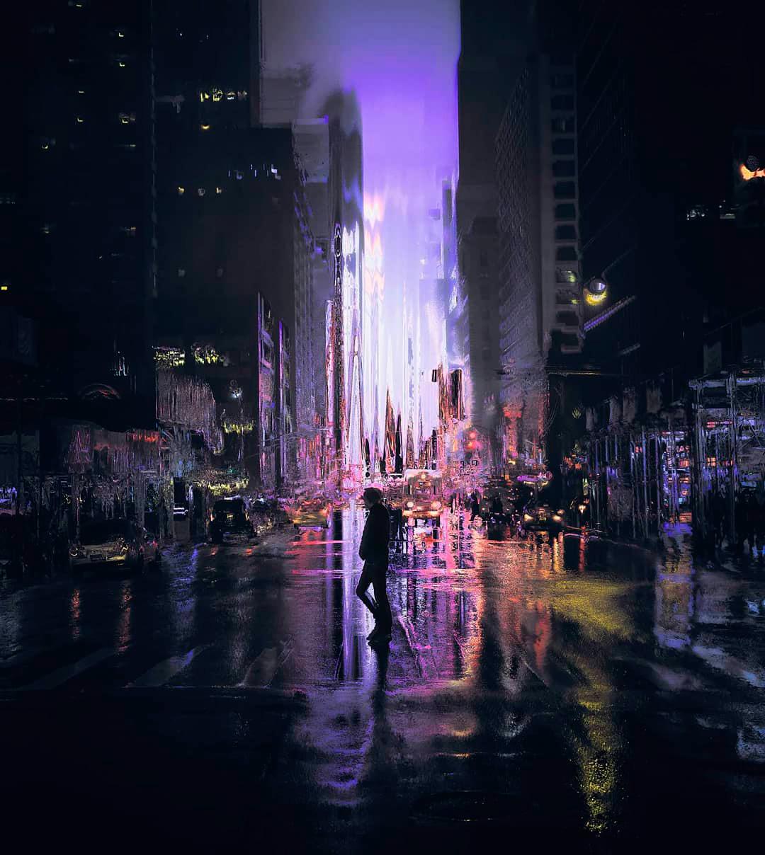 Fotografía de persona cruzando la calle por Hubert Solczynski