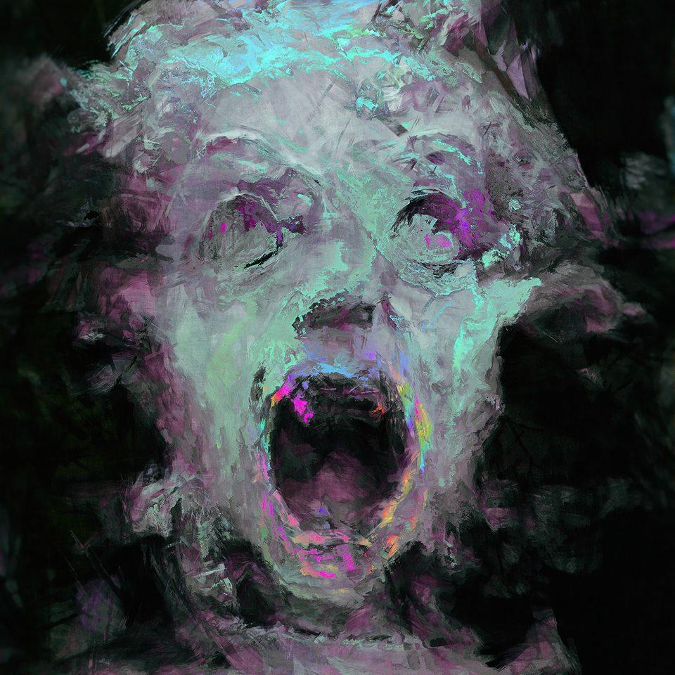 Retrato con intervención digital de Hubert Solczynski
