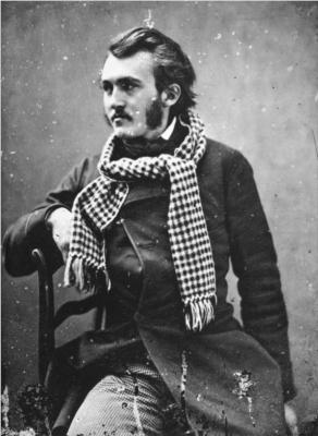 Portrett i svart og hvitt av Gustave Doré