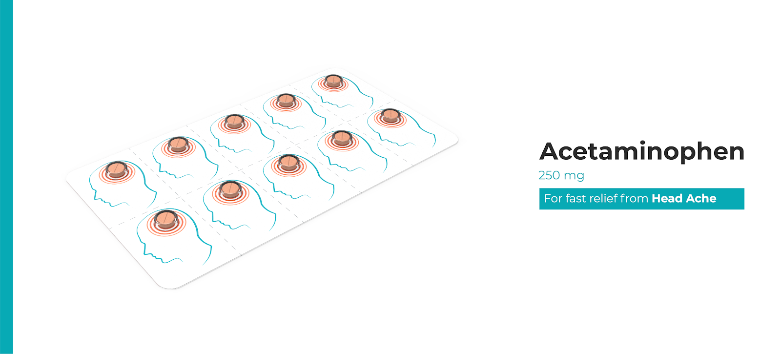 Συσκευασία ακεταμινοφαίνης σχεδιασμένη από Sim-Pill
