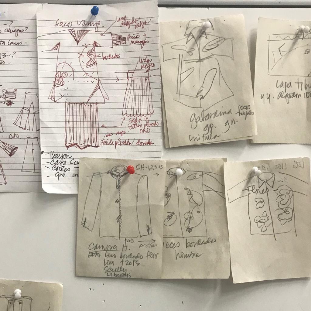 Bocetos de la diseñadora Carmen Rión