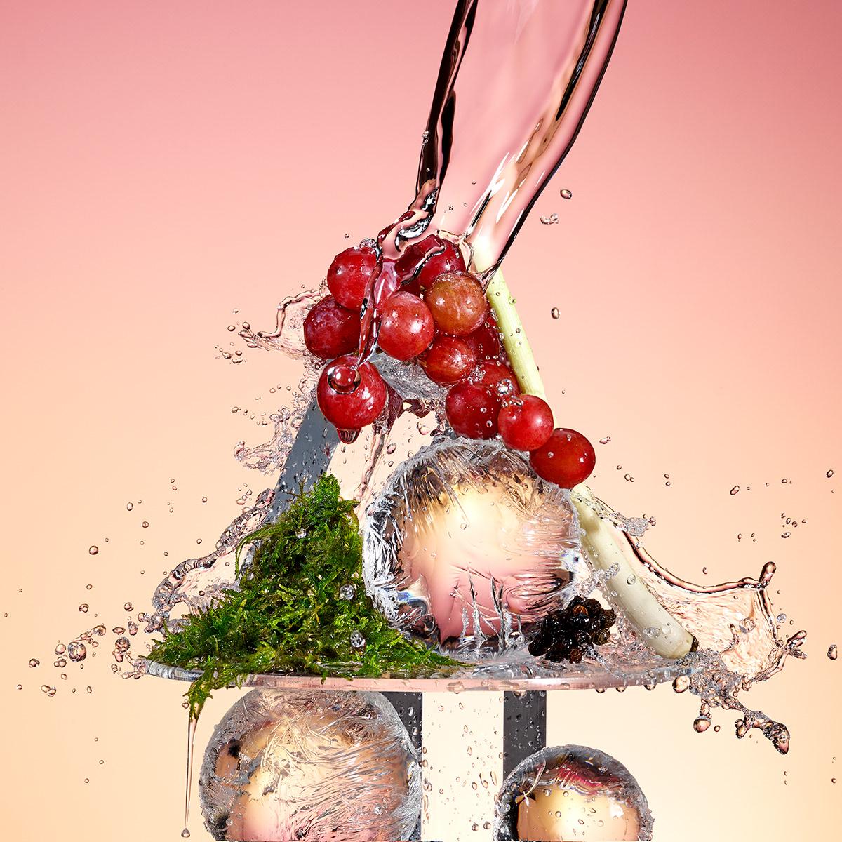Los intensos colores y la frescura de las fotografías son el sello de esta serie promocional.