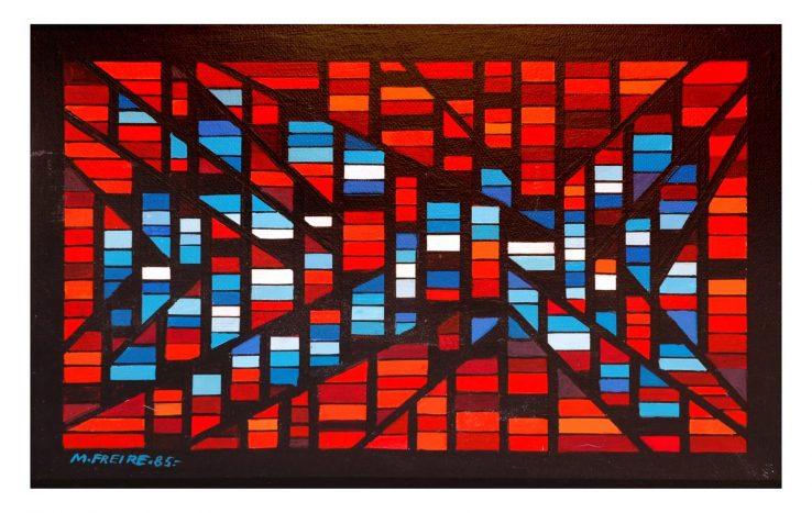 Ζωγραφική από την Ουρουγουάη καλλιτέχνη María Freiré, η οποία χαρακτηρίζεται από τη γεωμετρία των έργων της.