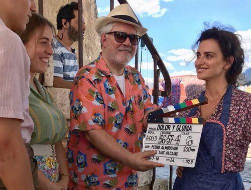 Spansk regissør under innspillingen av 'Dolor y Gloria'.