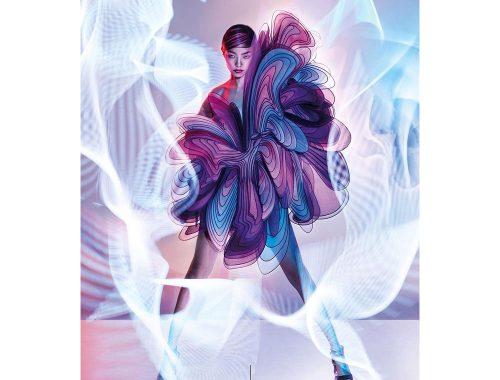 Este vestuario incluido en la revista Vogue Hong Kong, está bautizado como 'Milagroso'.