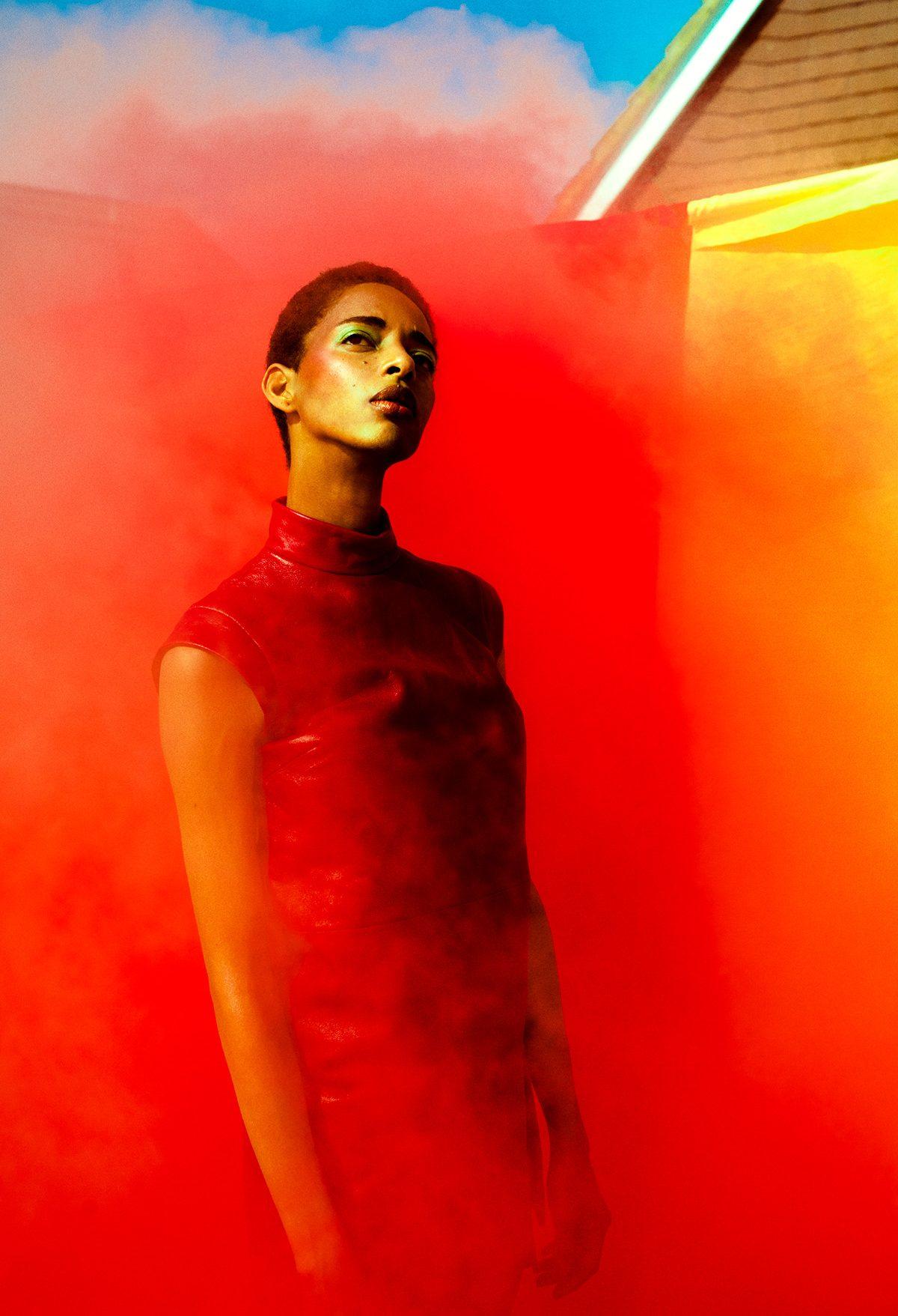 modelli con vestito rosso