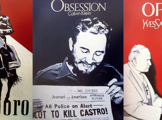 Collages de Fidel Castro por Toirac