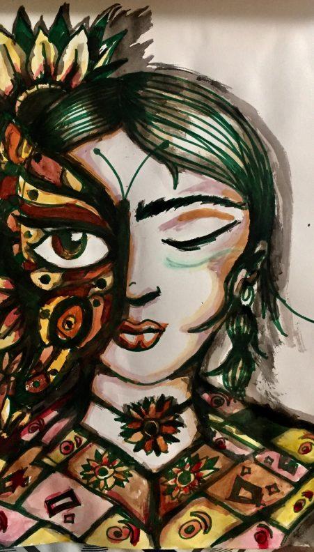 het gezicht van de vrouw