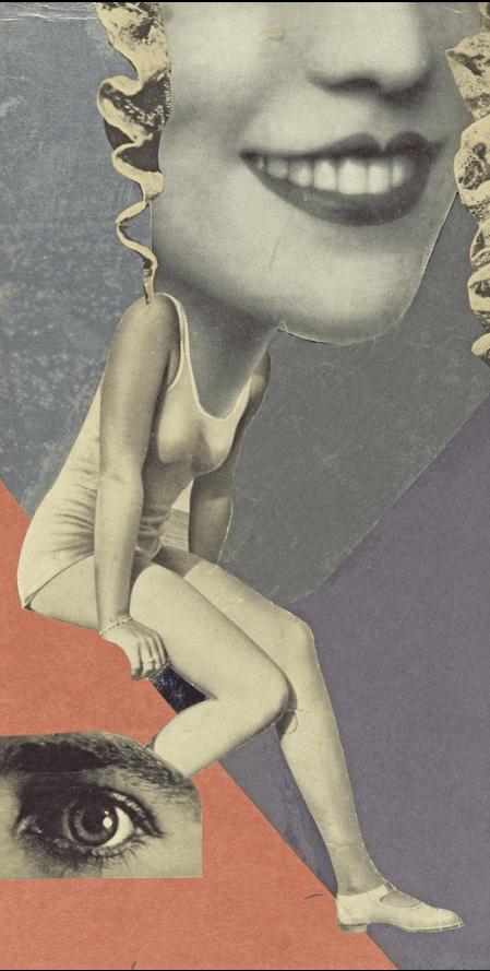Collage sonrisa de mujer