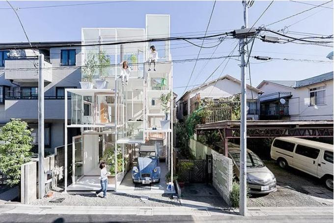 hogar transparente en Japòn