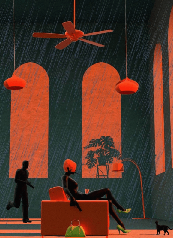 ragazza in una giornata piovosa