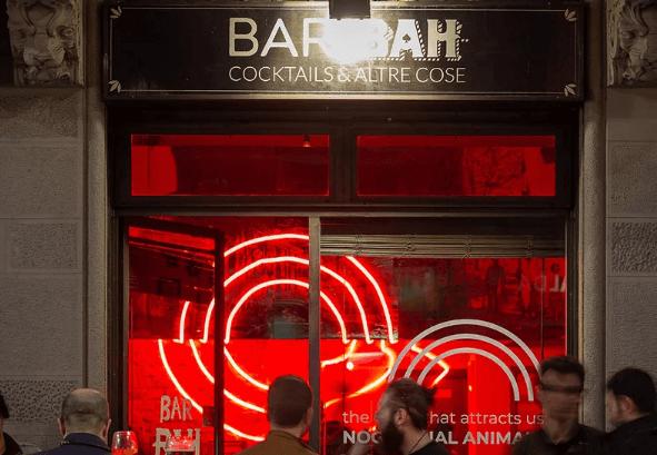 Inngang til Bar Bah i Milano