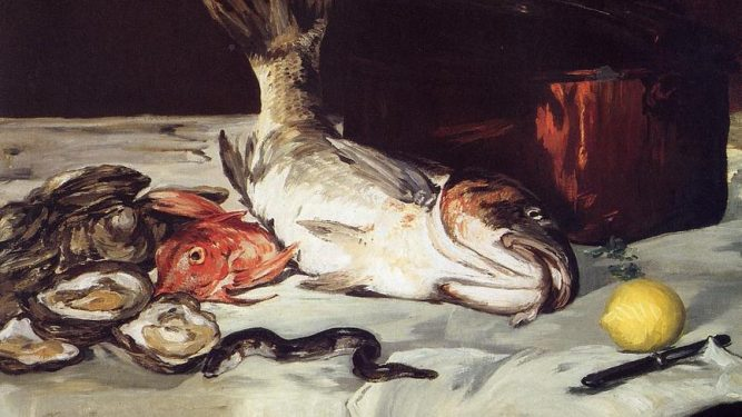 pesce sul tavolo