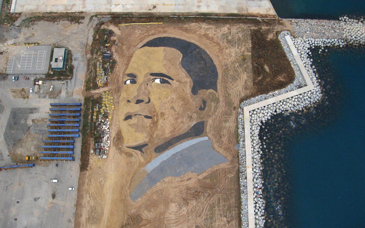 Rostro terrestre Obama
