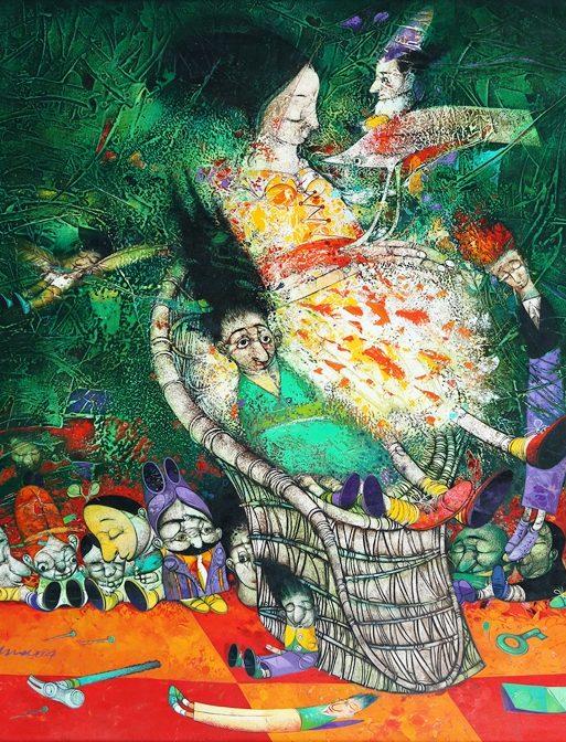 Latinsk kunstmaleri av Pedro Pablo Oliva
