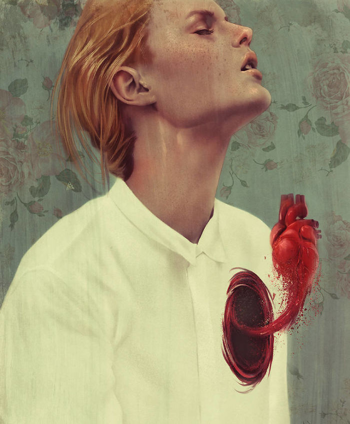 chica con corazon