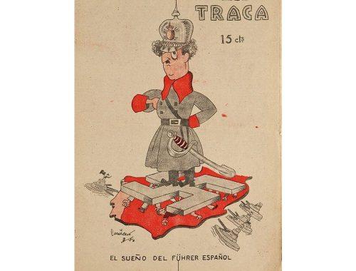 Cartel de 'El sueño del Führer español', sátira del gobierno de Francisco Franco.
