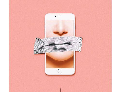 Celular y labios
