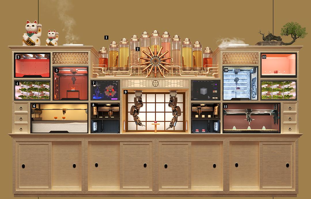 Utforming av Sushi Singularity Restaurant