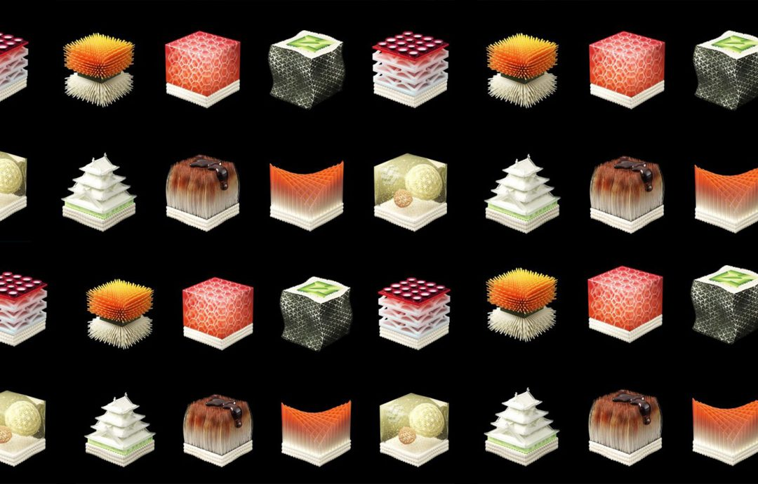 Modeller av sushi trykt i 3D