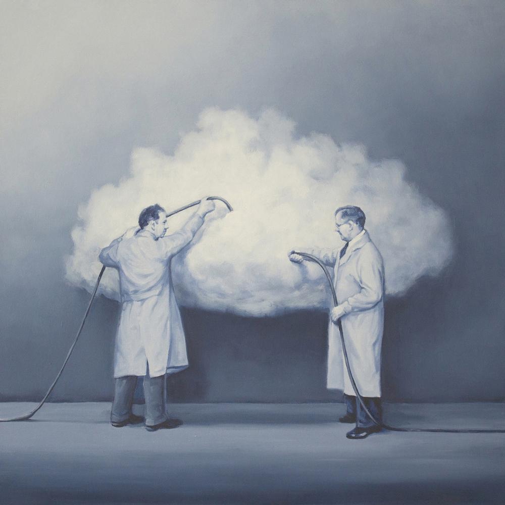 एक बादल के साथ दो वैज्ञानिक