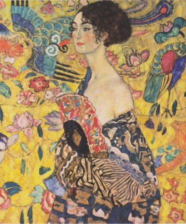 Gustav Klimt werkt voor een vrouw