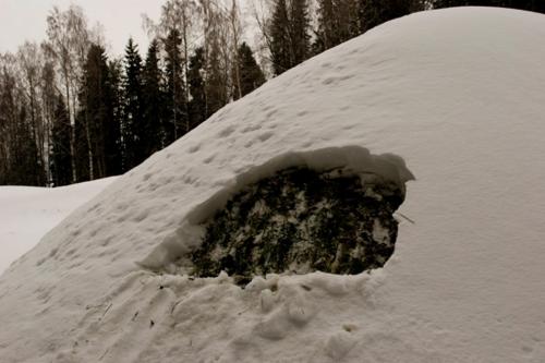 पहाड़ में बर्फ का नजारा