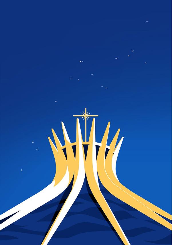 Ilustracion de la catedral de brasil