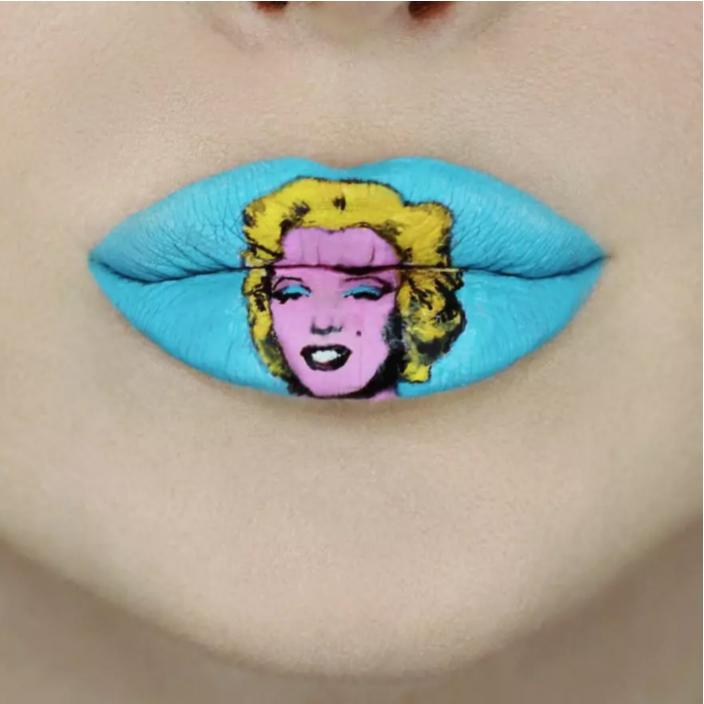 Andy Warhol στο μακιγιάζ των χειλιών