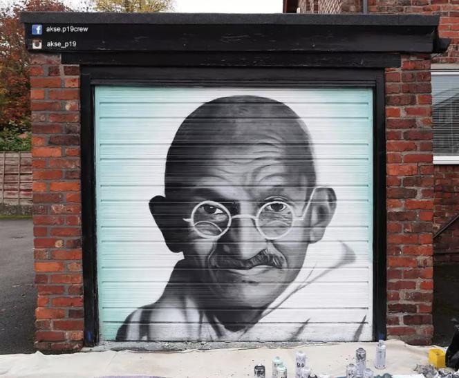 Mural de Gandhi