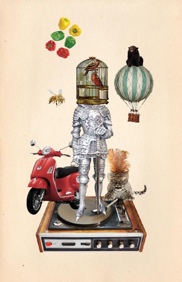 Collage del artista costarricense Daniel Montiel