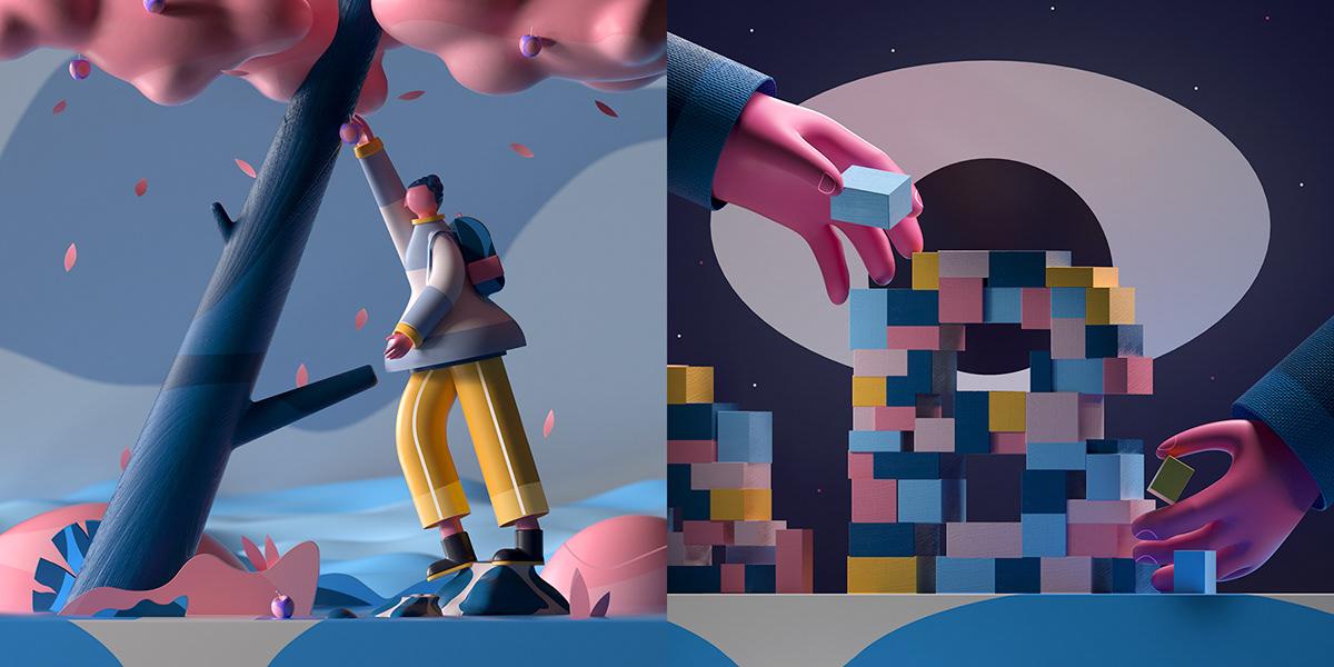 装配tetris的手的例证