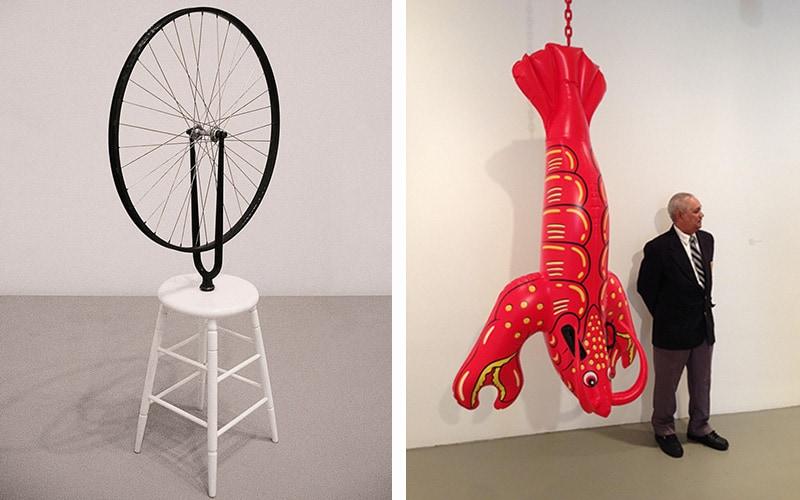 Obras de Duchamp y Koons