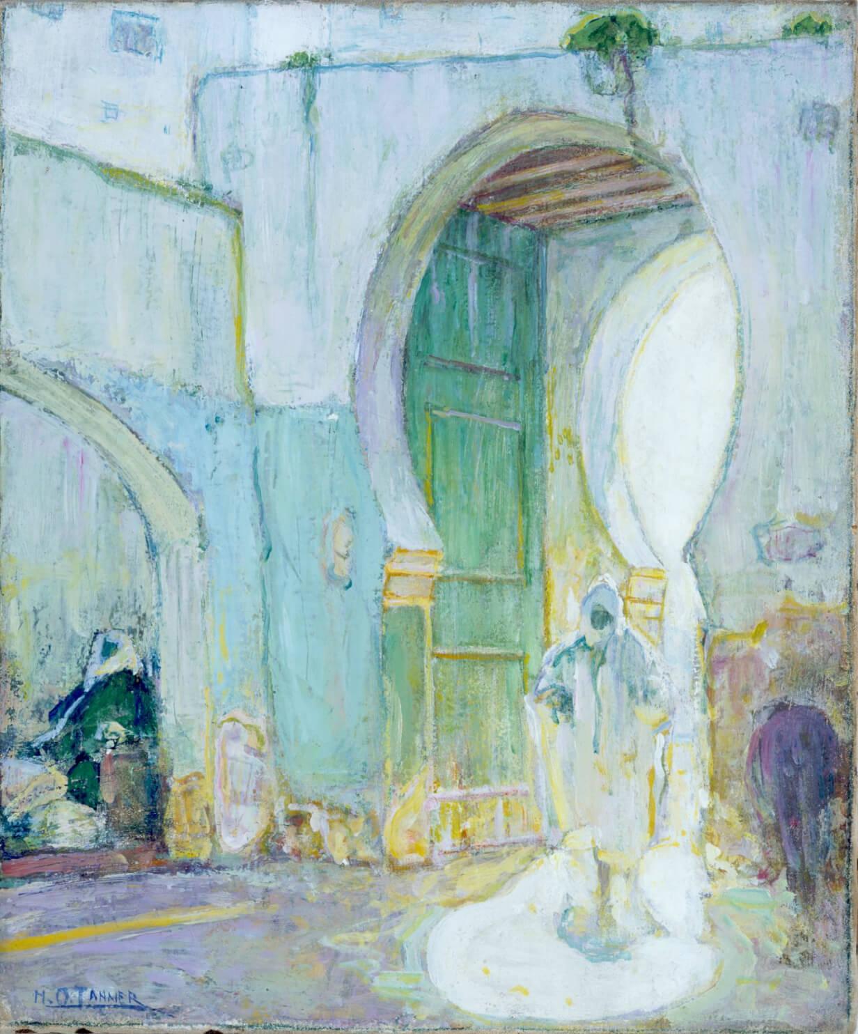 Pintura verde-azul de Henry Ossawa Tanner