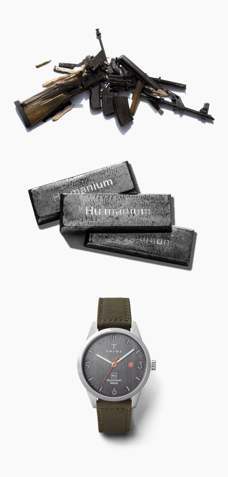 हथियार, धातु और घड़ी