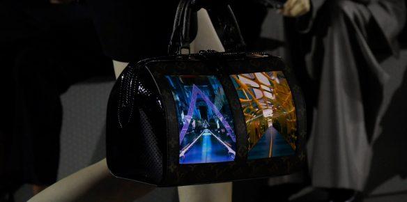 Louis Vuitton-veske med LED-skjerm