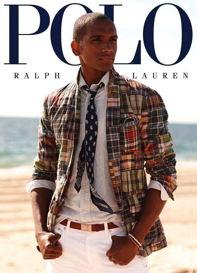 Μοντέλο με τα ρούχα του Ralph Lauren