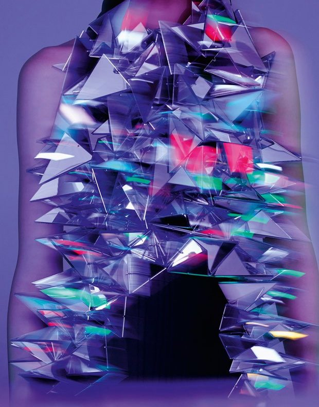 Blusa con triangulos de colores neon