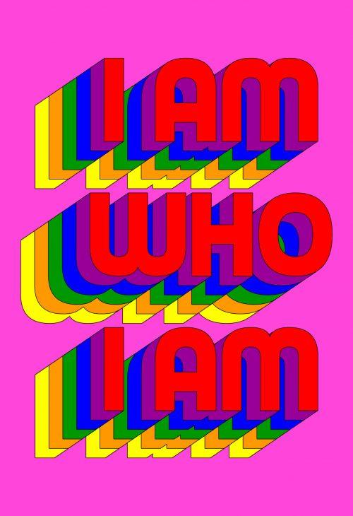Collage av bokstaver av kunstneren Tyler spangler