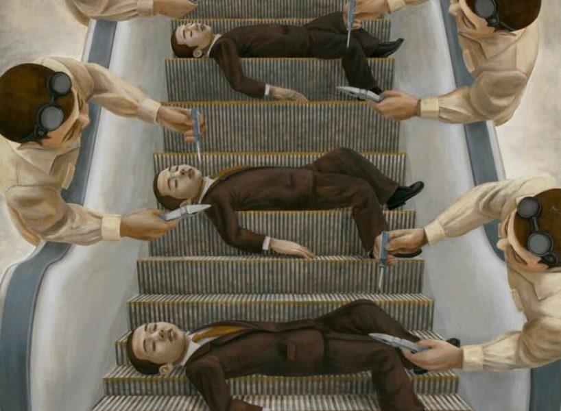 सीढ़ियों से गिरते पुरुष