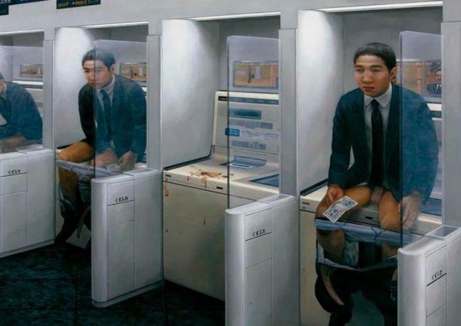 ऑफिस में सूट वाले पुरुष