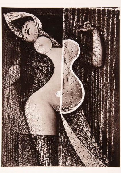 Grafiti de mujer desnuda fotografiado por Brassai