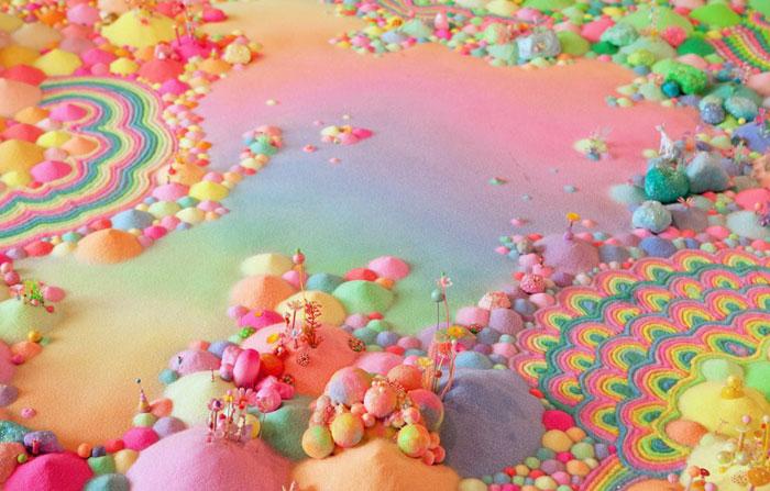 安装在糖果,糖果和糖果的地板上