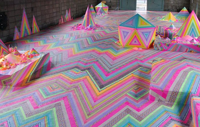 在地板上安装糖果