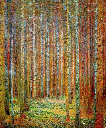 Schilderij Beukengroef van Gustav Klimt