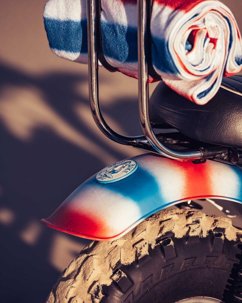 Motorsykkel sykkel dekk for strand