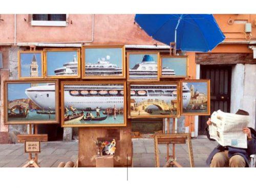התקנה של בנקסי בביאנלה בוונציה