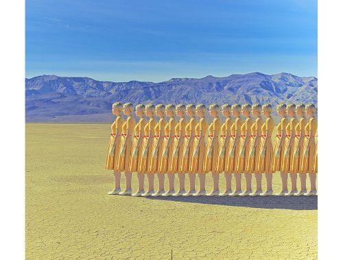 Κορίτσια με κίτρινο φόρεμα στην κοιλάδα